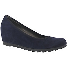 Buy Gabor Request Wedge Heeled Court Shoes, Purple Online at johnlewis.com