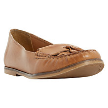 Buy Dune Gillie Slip On Loafers, Tan Online at johnlewis.com
