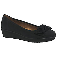 Buy Gabor Haven Wide Bow Pumps, Anthracite Online at johnlewis.com