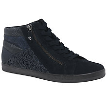 Buy Gabor Celebrity Wide High Top Trainers, Night Blue Online at johnlewis.com