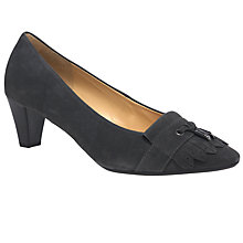 Buy Gabor Brindon Fringed Court Shoes, Grey Online at johnlewis.com