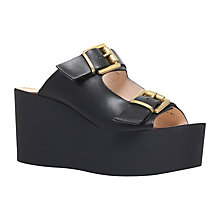 Buy Carvela Khris Flatform Sandals, Black Online at johnlewis.com
