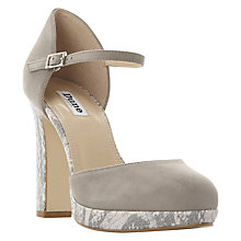 Buy Dune Chia Two Part Block Heeled Court Shoes Online at johnlewis.com