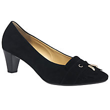 Buy Gabor Brindon Fringed Court Shoes, Black Online at johnlewis.com