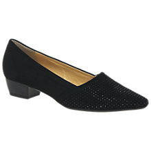Buy Gabor Azalea Pointed Toe Court Shoes, Black Online at johnlewis.com