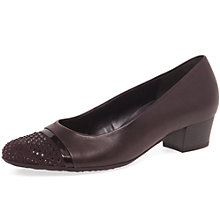 Buy Gabor Denny Wide Block Heeled Court Shoes Online at johnlewis.com
