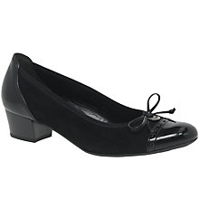 Buy Gabor Islay Wide Block Heeled Court Shoes, Black Online at johnlewis.com