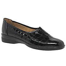 Buy Gabor Alice Wide Pumps, Black Online at johnlewis.com