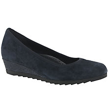 Buy Gabor Epworth Wide Wedge Heeled Court Shoes, Ocean Online at johnlewis.com