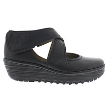 Buy Fly Rafe Cross Strap Court Shoes, Black Online at johnlewis.com