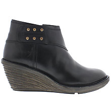 Buy Fly Sade Wedge Heeled Ankle Boots, Black Online at johnlewis.com