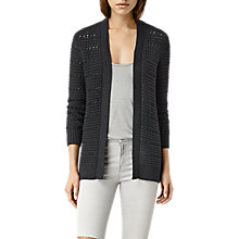 Buy AllSaints Lota Cardigan, Cinder Black Online at johnlewis.com