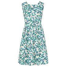 Buy Sugarhill Boutique Hatty Palm Floral Dress, White/Green Online at johnlewis.com