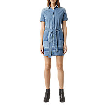 Buy AllSaints June Denim Dress, Indigo Blue Online at johnlewis.com