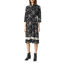Buy AllSaints Volta Willow Dress, Black Online at johnlewis.com