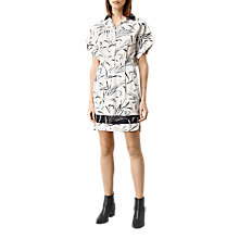 Buy AllSaints Mario Willow Dress, Chalk White Online at johnlewis.com