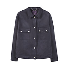 Buy Violeta by Mango Faux Suede Jacket, Navy Online at johnlewis.com