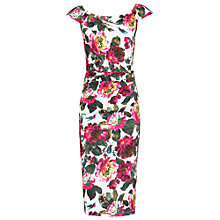 Buy Jolie Moi Floral Ruched 40s Dress, Multi Online at johnlewis.com