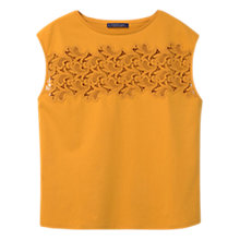 Buy Violeta by Mango Embroidered Cotton Top Online at johnlewis.com