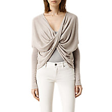 Buy AllSaints Cropped Reversible Itat Cardigan, Brown Marl Online at johnlewis.com