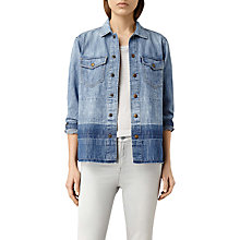 Buy AllSaints Cal Denim Shirt Jacket. Indigo Blue Online at johnlewis.com