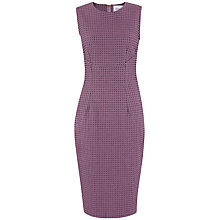 Buy Closet Curve Seam Jacquard Dress, Purple Online at johnlewis.com