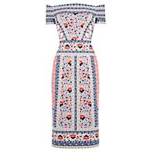 Buy Oasis V&A Charlotte Print Bandeau Dress, Multi Online at johnlewis.com