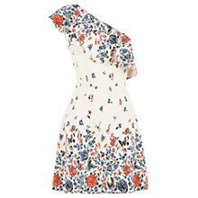 Buy Oasis V&A One Shoulder Dress, Multi Online at johnlewis.com