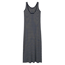 Buy Violeta by Mango Long Striped Dress, Medium Blue Online at johnlewis.com