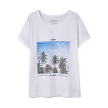 Buy Violeta by Mango Printed Image T-Shirt, White Online at johnlewis.com