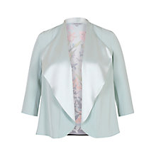 Buy Chesca Floral Print Satin Shrug, Aqua/Multi Online at johnlewis.com