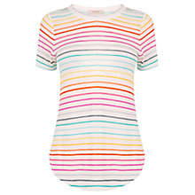 Buy Oasis Rainbow Stripe T-Shirt, Multi Online at johnlewis.com