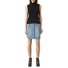 Buy AllSaints June Denim Skirt, Indigo Blue Online at johnlewis.com