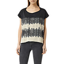 Buy AllSaints Serpine T-shirt, Faded Black Online at johnlewis.com
