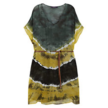Buy Violeta by Mango Tie Dye Print Dress, Yellow Online at johnlewis.com
