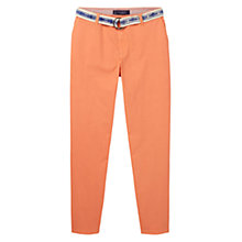Buy Violeta by Mango Cotton-Blend Belt Trousers Online at johnlewis.com
