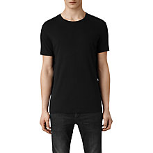 Buy AllSaints Ground Crew Neck T-Shirt, Black Online at johnlewis.com