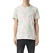 Buy AllSaints Watercamo Short Sleeve T-Shirt, Chalk White Online at johnlewis.com