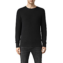 Buy AllSaints Farn Crew Neck Jumper, Black Online at johnlewis.com