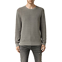 Buy AllSaints Kett Crew Cotton Jumper Online at johnlewis.com