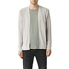 Buy AllSaints Kett Cotton Cardigan, Light Grey Marl Online at johnlewis.com
