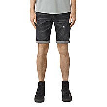 Buy AllSaints Hancox Switch Denim Shorts, Black Online at johnlewis.com