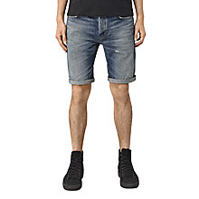 Buy AllSaints Horton Switch Denim Shorts, Indigo Blue Online at johnlewis.com