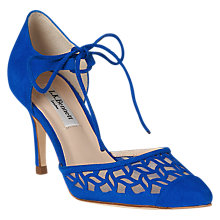 Buy L.K. Bennett Fauna Cut Away Stiletto Heeled Court Shoes, True Blue Suede Online at johnlewis.com