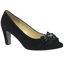 Buy Gabor Audience Jewel Court Shoes, Black Online at johnlewis.com