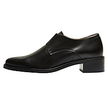 Buy Selected Femme Scartlett Elastic Perforated Brogues, Black Online at johnlewis.com