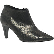 Buy Gabor Cardwell Pointed Toe Ankle Boots, Dark Grey Online at johnlewis.com
