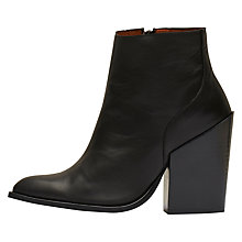 Buy Selected Femme Tania Block Heeled Ankle Boots, Black Online at johnlewis.com