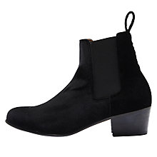 Buy Selected Femme London Block Heeled Ankle Boots, Black Velvet Online at johnlewis.com