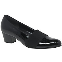Buy Gabor Sovereign Wide Block Heeled Court Shoes, Black Online at johnlewis.com